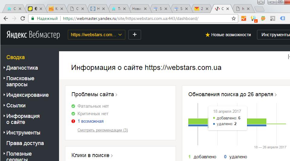 Яндекс веб мастер
